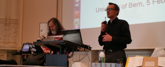 (Français) Richard Stallman à Berne pour une société digitale libre